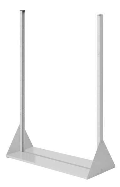 RasterPlan Stellwand Standmodul Gr. 4, H1450 x B1000 x T430 mm, RAL 7035. Doppelseitig, ohne Platten.