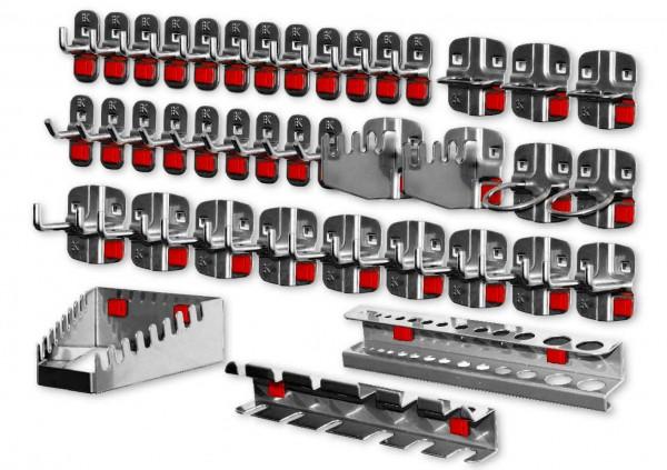 RasterPlan/ABAX Werkzeughalter-Sortiment, 40-teilig anthrazitgrau.