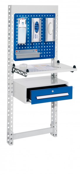 ErgoPlus Steharbeitsplatz Mod 1 RAL 7035 /5010 H1650 x B 670 mm