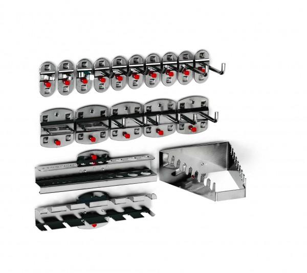 RasterPlan Werkzeughalter-Sortiment, 18-teilig anthrazitgrau.