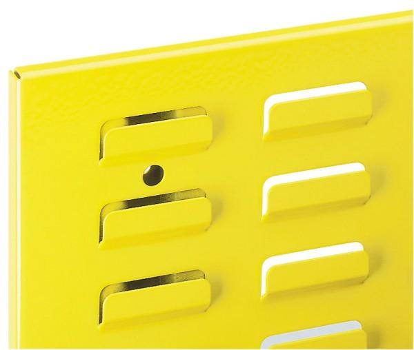 ®RasterPlan Schlitzplatte B 450 mm x H 500 mm Hochformat RAL 1023 - Verkehrsgelb Universell kombinier- und einsetzbar. Kompatibel mit ®RasterPlan Lochplatten.
