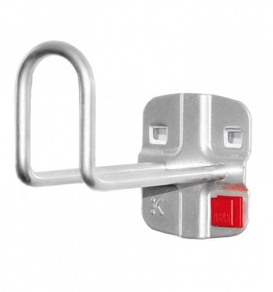®RasterPlan/ABAX® Kabelhalter Länge 100 mm / Höhe Hakenende 50 mm Alufarben