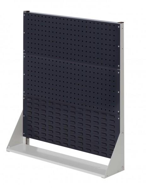 ®RasterPlan Stellwand Gr.3 einseitig, H1100 x B1000 x T240 mm, RAL 7035/7016. 2 Lochplatten, 1 Schlitzplatten.