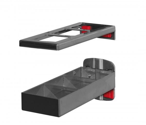 RasterPlan/ABAX Kombinationshalter anthrazitgrau, 2-teilig L 150 x B 55 mm.