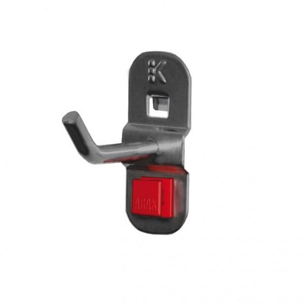 RasterPlan/ABAX Werkzeughalter anthrazitgrau, L 50 mm, schräges Hakenende.
