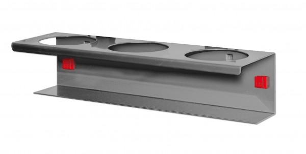 ®RasterPlan/ABAX® Runddosenhalter 3-fach Durchmesser 70 mm Anthrazitgrau