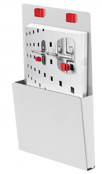 RasterPlan/ABAX Prospekthalter DIN A 5, lichtgrau.