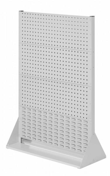 RasterPlan Stellwand Gr.4 doppelseitig, H1450 x B1000 x T430 mm, RAL 7035. 6 Lochplatten, 2 Schlitzplatten.