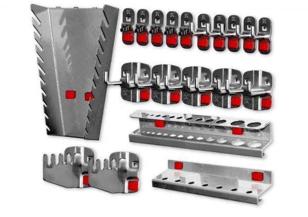 RasterPlan/ABAX Werkzeughalter-Sortiment, 20-teilig anthrazitgrau.
