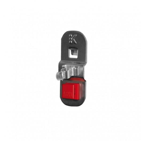RasterPlan/ABAX Werkzeugklemme D 19 mm, einfach kleine Grundplatte anthrazitgrau.
