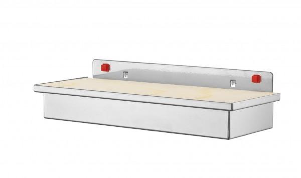 RasterPlan/ABAX Werkzeugaufnahmebox, mit Holzplatte alufarben.