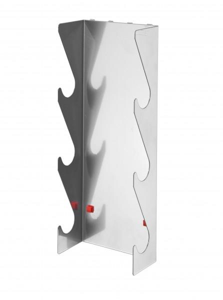 RasterPlan/ABAX Rohrhalter 3-fach, alufarben.