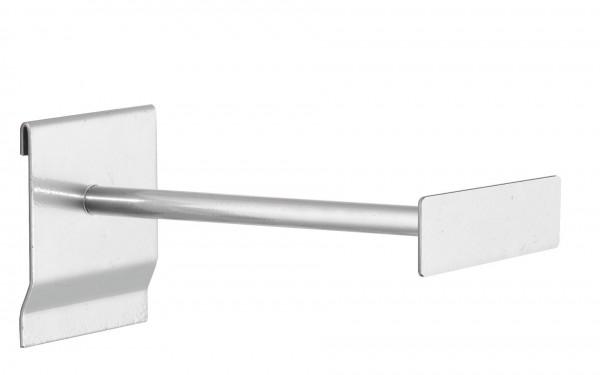 ®RasterPlan Universalhalter mit Beschriftungsfeld L 200 mm, alufarben.