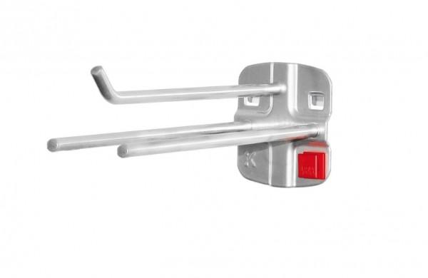 RasterPlan/ABAX Werkzeughalter 3-fach, L150 x B45 mm, alufarben.