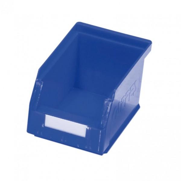 ®RasterPlan Lagersichtkasten Größe 6 Mit Aufhängeleiste für ®RasterPlan Schlitzplatten Blau L 230 mm x B 140 mm x H 130 mm