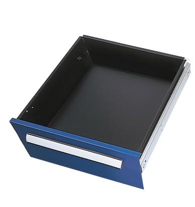 Schublade RAL 5010 H175 mm, Breite 500 mm, Vollauszug.
